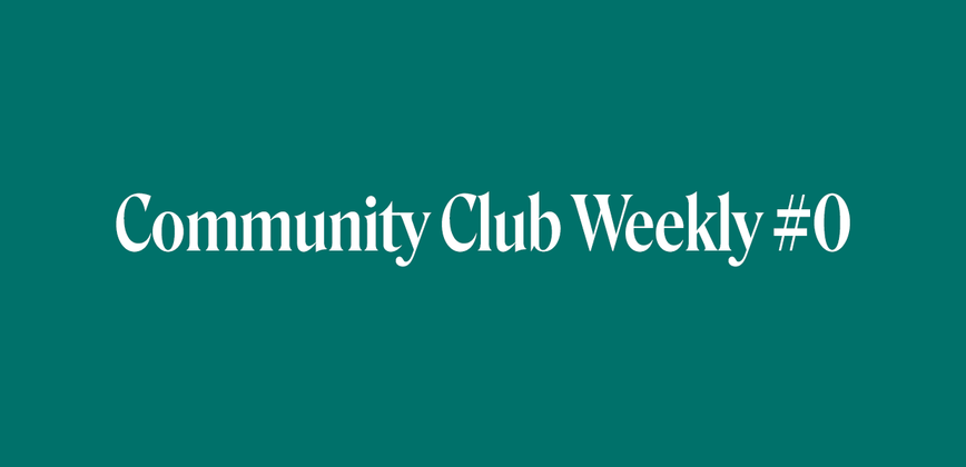 Cover image for Community Chat Weekly #0