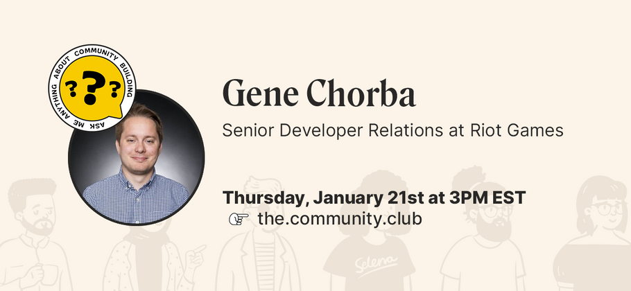 Cover image for AMA with Gene Chorba