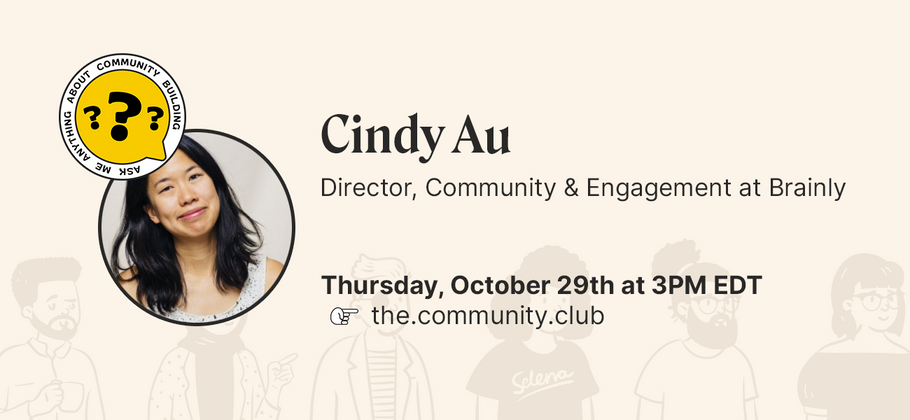Cover image for AMA with Cindy Au