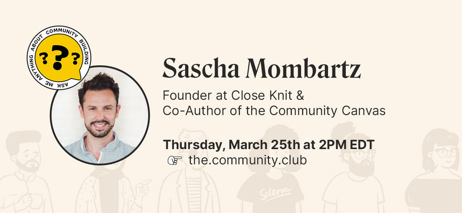 Cover image for AMA with Sascha Mombartz