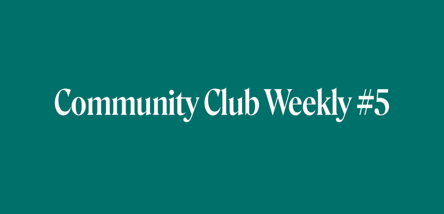 Cover image for Community Chat Weekly #5