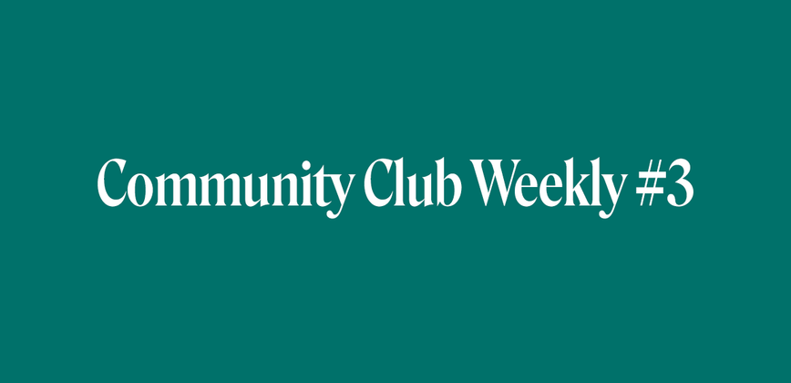 Cover image for Community Chat Weekly #3