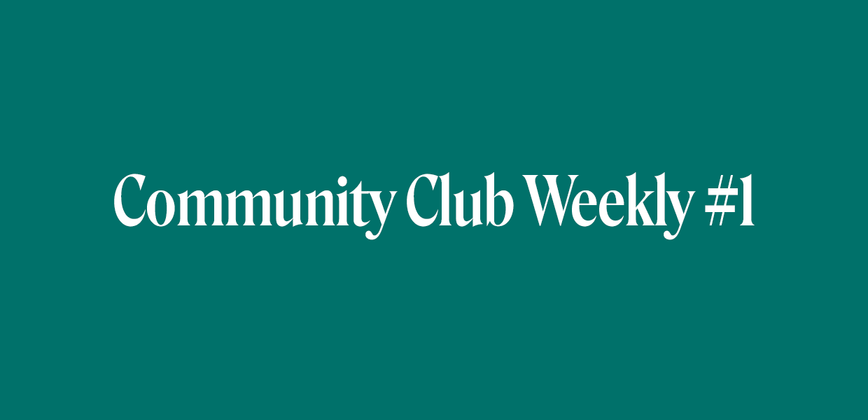 Cover image for Community Chat Weekly #1