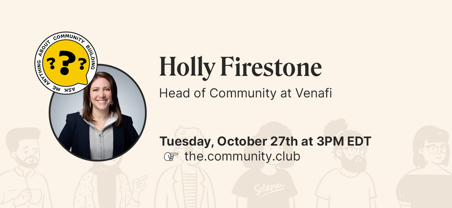 Cover image for AMA with Holly Firestone