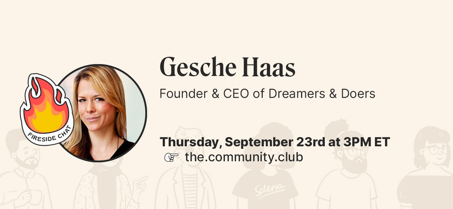 Cover image for Fireside Chat & AMA with Gesche Haas