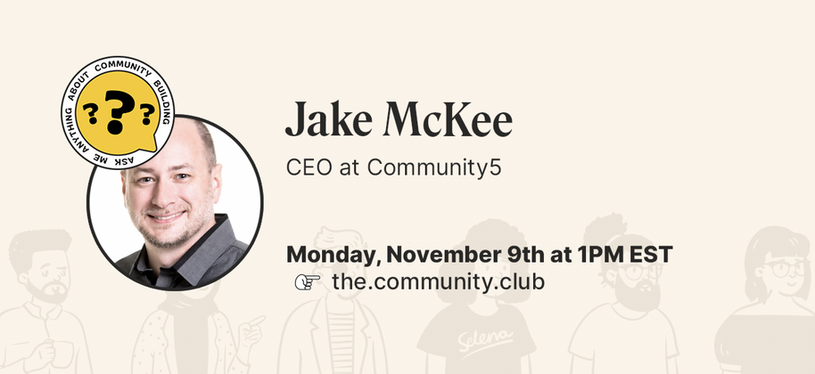 Cover image for AMA with Jake McKee