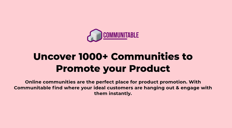 Cover image for I'm launching a 1000+ Communities Database to Promote your Product/Service across